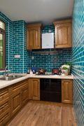120平米四室一厅英伦风格厨房装修图片大全