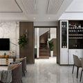 140平米复式现代简约风格楼梯间装修效果图