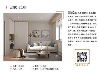 70平米一室一厅日式风格客厅装修图片大全
