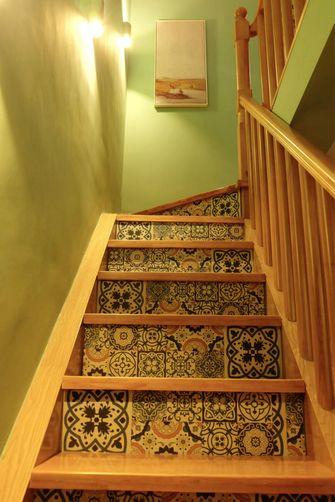 120平米三田园风格楼梯间图片