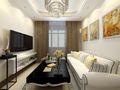 90平米欧式风格客厅沙发欣赏图