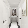 130平米三室一厅宜家风格走廊图片大全