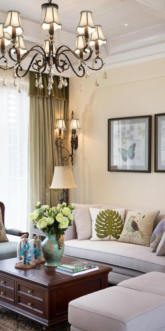 130平米三室一厅地中海风格客厅装修效果图