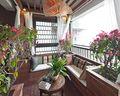 富裕型110平米三室一厅东南亚风格阳台装修效果图