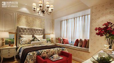 120平米三室两厅田园风格卧室飘窗图片大全