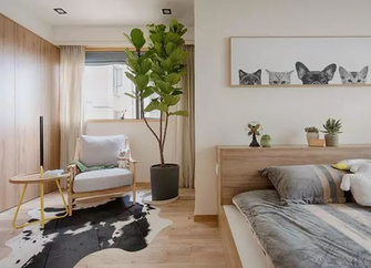 60平米一居室日式风格卧室效果图
