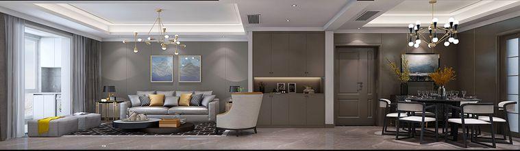 豪华型140平米四现代简约风格客厅设计图