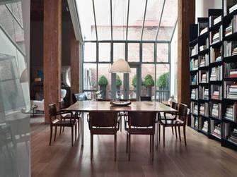 现代简约风格书柜设计图