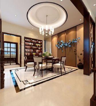豪华型140平米别墅中式风格餐厅壁纸图