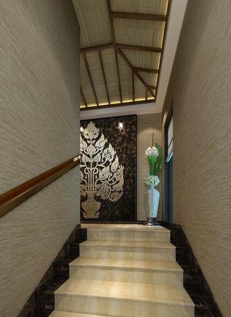 140平米别墅东南亚风格楼梯间欣赏图