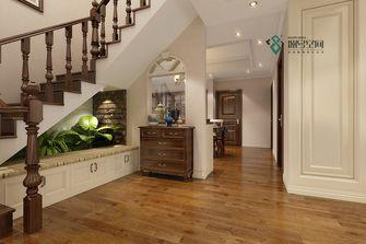 140平米复式田园风格楼梯间设计图