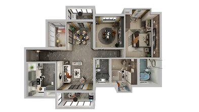 null风格客厅装修效果图