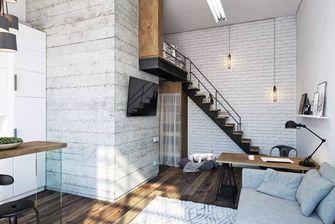 经济型50平米公寓现代简约风格楼梯效果图