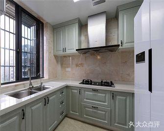110平米三室两厅法式风格厨房装修图片大全