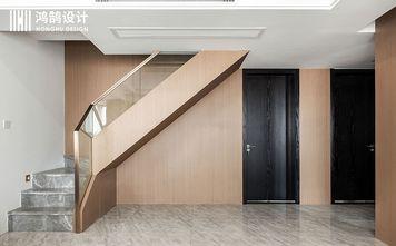140平米三室两厅现代简约风格楼梯间图片大全