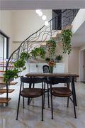 富裕型130平米三室两厅混搭风格楼梯装修效果图