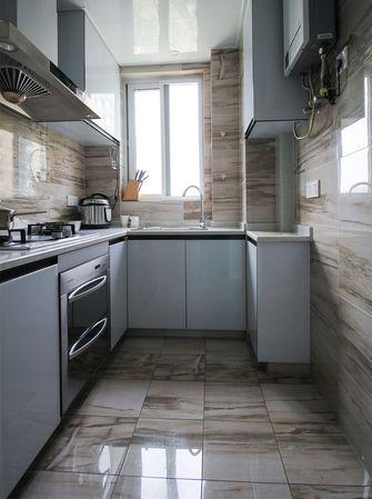 80平米北欧风格厨房橱柜欣赏图