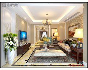 富裕型140平米三室兩廳歐式風格其他區域效果圖