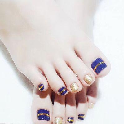 气质脚趾美甲图