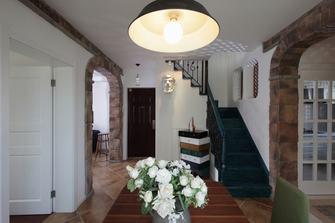 经济型90平米田园风格楼梯间装修图片大全