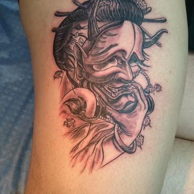 般若面具纹身图