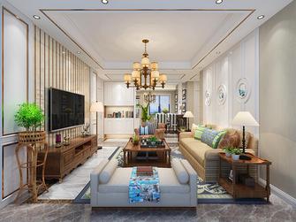 100平米三室两厅田园风格客厅装修效果图
