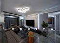 富裕型110平米现代简约风格客厅图片大全