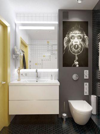 80平米一室两厅北欧风格卫生间装修案例