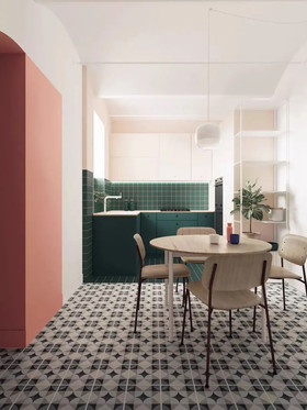 100平米混搭風格餐廳設計圖