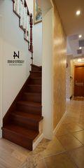 20万以上120平米三室两厅美式风格楼梯装修图片大全