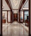 140平米三室一厅中式风格走廊图片大全