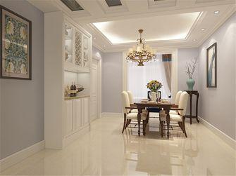 130平米三室两厅美式风格餐厅背景墙效果图