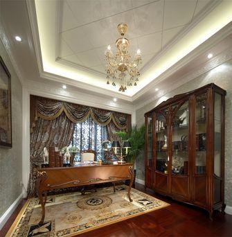 110平米三室一厅英伦风格书房图片