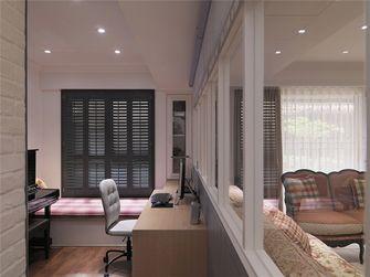 100平米三室一厅田园风格书房飘窗装修案例
