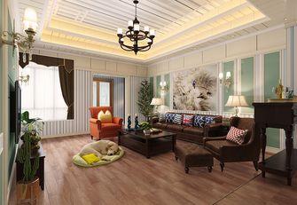 120平米四室两厅田园风格客厅装修图片大全