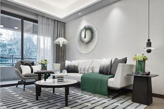 90平米三室一厅现代简约风格客厅装修图片大全