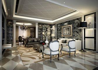 100平米三室一厅现代简约风格餐厅背景墙效果图