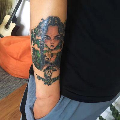 卡通女孩纹身款式图