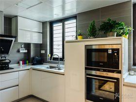 富裕型140平米現代簡約風格廚房裝修圖片大全