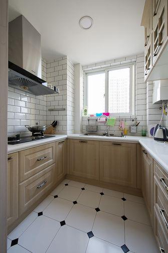 60平米一室两厅田园风格厨房装修图片大全