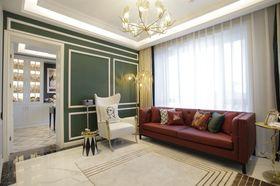 140平米三室一厅混搭风格客厅装修效果图