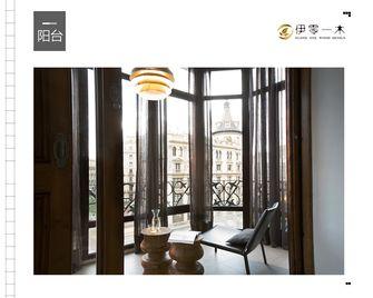 富裕型100平米一室一厅英伦风格阳台装修图片大全