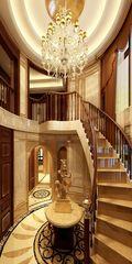 豪华型140平米别墅英伦风格楼梯装修案例