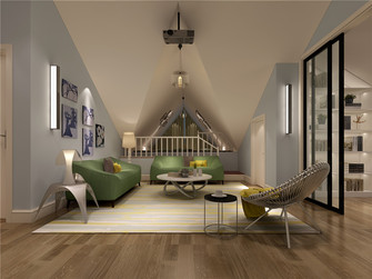 140平米别墅法式风格阁楼效果图
