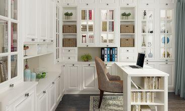 90平米三室两厅英伦风格书房效果图