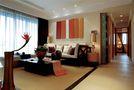120平米四室两厅东南亚风格客厅装修效果图