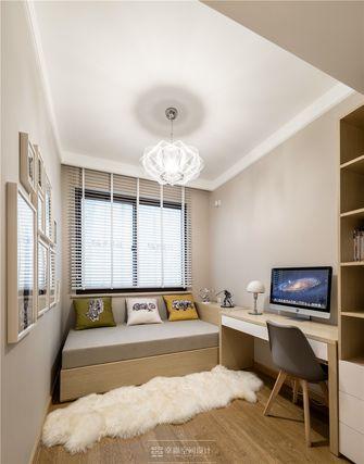80平米现代简约风格书房家具效果图