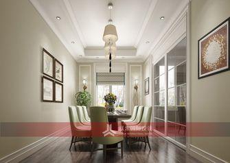 140平米别墅美式风格餐厅背景墙图片大全