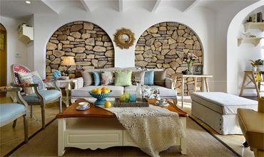 140平米复式地中海风格客厅设计图
