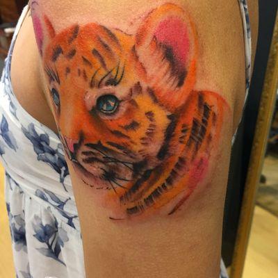 小老虎纹身图